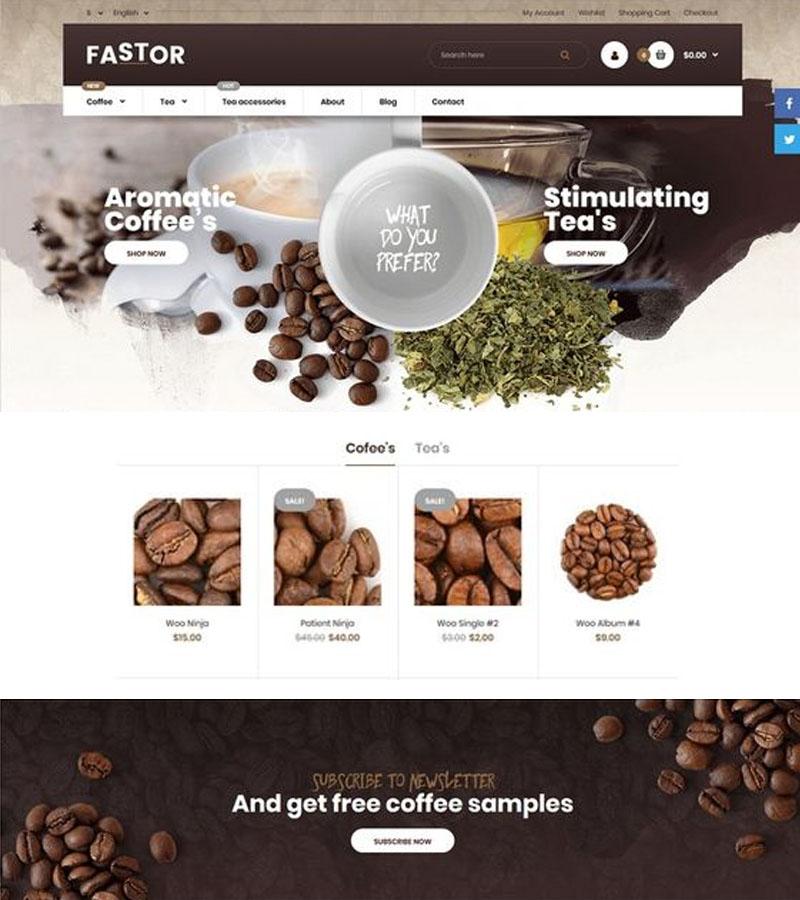 เว็บไซต์ร้านกาแฟ